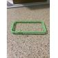 cas cadre pare-chocs pour 4 Apple iPhone avec bouton en métal (vert - translucide)