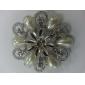 fleur forme ronde perle la broche de femmes