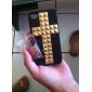Capa Rígida Traseira com Padrão de Cruz Adesivo para iPhone 4/4S