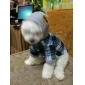 Cães Camiseta Camisola com Capuz Azul Roupas para Cães Inverno Primavera/Outono Xadrez Da Moda