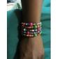 Multicolore Bois Wrap Bracelet de mode 6cm femmes (multicolore) (1 PC)