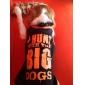 Собака Футболка Одежда для собак Буквы и цифры Черный Костюм Для домашних животных