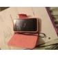 PU Leather Full Body Case with Card Slot and Strap for iPhone 4/4S (Optional Colors)