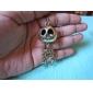 Antique Copper Vintage Skeleton Man Necklace(Random Color)