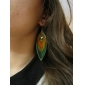 Drop Earrings Alloy Bohemian Feather Peacock Green Jewelry Daily