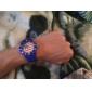 USA Flag Pattern hommes bleu silicone, bande de montre bracelet à quartz cadeau Coupe Football