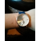 여자의 로즈 골드 클래식 PU 악대 아날로그 석영 손목 시계 (분류 된 색깔)