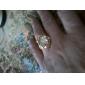 Femme Bagues Affirmées bijoux de fantaisie Plaqué or 18K or Bijoux Pour Mariage Soirée Quotidien Décontracté