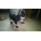 Cat Dog Shoes & Boots Christmas New Year's Winter Spring/Fall Solid Red Cotton