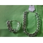 Femme Set de Bijoux Mode Européen Soirée Occasion spéciale Anniversaire Fiançailles Quotidien Plaqué argent Colliers décoratifs Bracelet