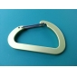 Oblate D Shaped Steel Carabiner 8mm