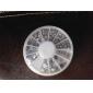 500PCS 6 Tamanho Arcylic Diamante Decorações Nail Art