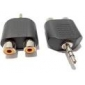 Audio 3.5mm Male Audio to 2 x RCA Female Adapter