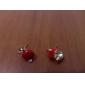 Boucles d'oreille goujon Imitation de diamant Le style mignon Imitation de diamant Alliage Pommes Rouge Vert Bijoux Pour Quotidien