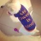 Chien Tee-shirt Vêtements pour Chien Respirable Lettre et chiffre Bleu Costume Pour les animaux domestiques