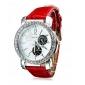 여자의 PU 아날로그 석영 손목 시계 (분류 된 색깔)