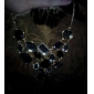 Ожерелье Винтаж Ожерелья / Заявление ожерелья Бижутерия Для вечеринок / Повседневные Модно Сплав / Стразы Черный 1шт Подарок