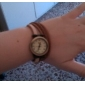 Mulheres Relógio de Moda Bracele Relógio Japanês Quartzo Couro Legitimo Banda Vintage Boêmio Preta Cáqui Preto Khaki