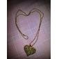 Женский Ожерелья с подвесками Сплав В форме сердца Золотой Серебряный Бижутерия Для вечеринок