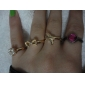 Gem Bow Personalized Angel Wings Swallows Five-Piece Ring