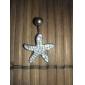 Lureme®Silver Plated Stainless Steel Rhinestones Starfish Navel/Ear Piercing(Random Color)  Christmas Gifts