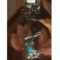 couleur pistolet plaqué Vintage hibou bleu perle collier