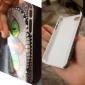 아이폰 4/4S를위한 특별 빛나는 눈 몬스터 패턴 하드 케이스