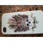crâne frais avec le cas de plumes du chapeau pour iPhone 4 / 4S