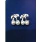 Boucles d'oreille goujon Perle Alliage Bijoux Quotidien