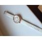 Crystal Case des femmes coloré Dial PU bande de montre bracelet à quartz (couleurs assorties)