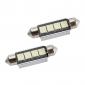 42 мм 4 smd светодиодная лампочка белого света 5500k dc 12v для чтения