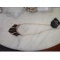 Femme Forme Géométrique Mode Punk Bonbon Blocs de Couleur Européen Pendentif de collier Alliage Pendentif de collier , Soirée