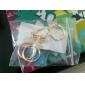 Mulheres Conjunto de Jóias Anéis Grossos Anéis para Falanges Amor Europeu Estilo simples bijuterias Zircônia Cubica Strass Liga Formato