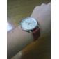 Homens Relógio de Pulso Japanês Quartzo PU Banda Casual Minimalista Preta Branco Vermelho Marrom