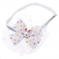 Dog Collar Bow Tie Cute and Cuddly Textile White