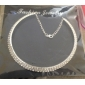 Women's Choker Necklace Crystal Rhinestone Alloy Choker Necklace , Party