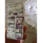 Key Vintage and Pattern PU Case Full Body de fleur avec fente pour carte et stand pour iPhone 5C