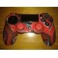 Силиконовая кожа и 2 Красный Стик Захваты для PS4 (красный + черный)