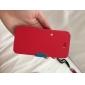 Pour Coque iPhone 5 Clapet Dépoli Magnétique Coque Coque Intégrale Coque Couleur Pleine Dur Cuir PU pour iPhone SE/5s/5