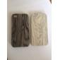 Cas Motif en bois de grain en plastique Retour pour iPhone 4/4S (couleurs assorties)