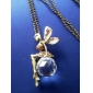 Vintage Collier Fée Cristal Alliage Maiden