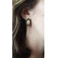 (1 Pair) Vintage Golden Alloy Stud Earrings(Golden)