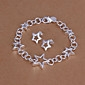 Pentagram de prata conjunto de jóias