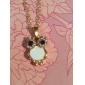Femme Pendentif de collier Sautoir Chouette Strass Coquillage Alliage Mode Européen Vintage Le style mignon bijoux de fantaisie Bijoux