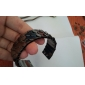 Lureme®Gunmetal Plated Fish Scale Shaped Bangle Cuff