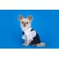 Собака Костюмы смокинг Одежда для собак Косплей Свадьба Контрастных цветов Черный/Белый Костюм Для домашних животных