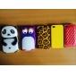 3D Panda Design Silica Gel Soft Case for iPhone 4/4S