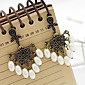 Retro palace carved hollow pearl drop earrings earrings earrings Yiwu jewelry E279