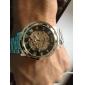 WINNER Homme Montre Bracelet Montre mécanique Remontage automatique Gravure ajourée Acier Inoxydable Bande Luxe Argent