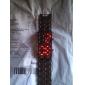 남성 손목 시계 디지털 LED / 달력 스테인레스 스틸 밴드 블랙 상표-